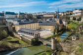 Luxembourg Neumunster abbey — Stock Photo