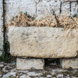 Old stone manger — Stock Photo