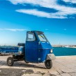 Old three wheels car — Stock Photo #26614357