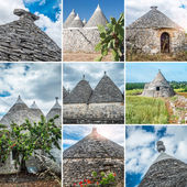 Trulli collage — Stock Photo