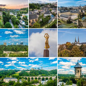 Luxembourg collage — Stock Photo