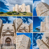 Castel Del Monte collage — Stock Photo