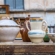 Old ceramic pots — Stock Photo