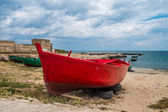 Little old fishing boats — Stock Photo