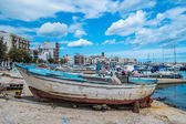Old boats, south of italy — Stock Photo