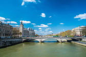 Paris the seine — 图库照片
