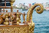 Istanbul Galata food boats — Stock Photo
