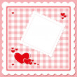 Royalty-Free Stock Imagem Vetorial: Hearts on the checkered background