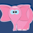 Stock Vector: Pink elephant