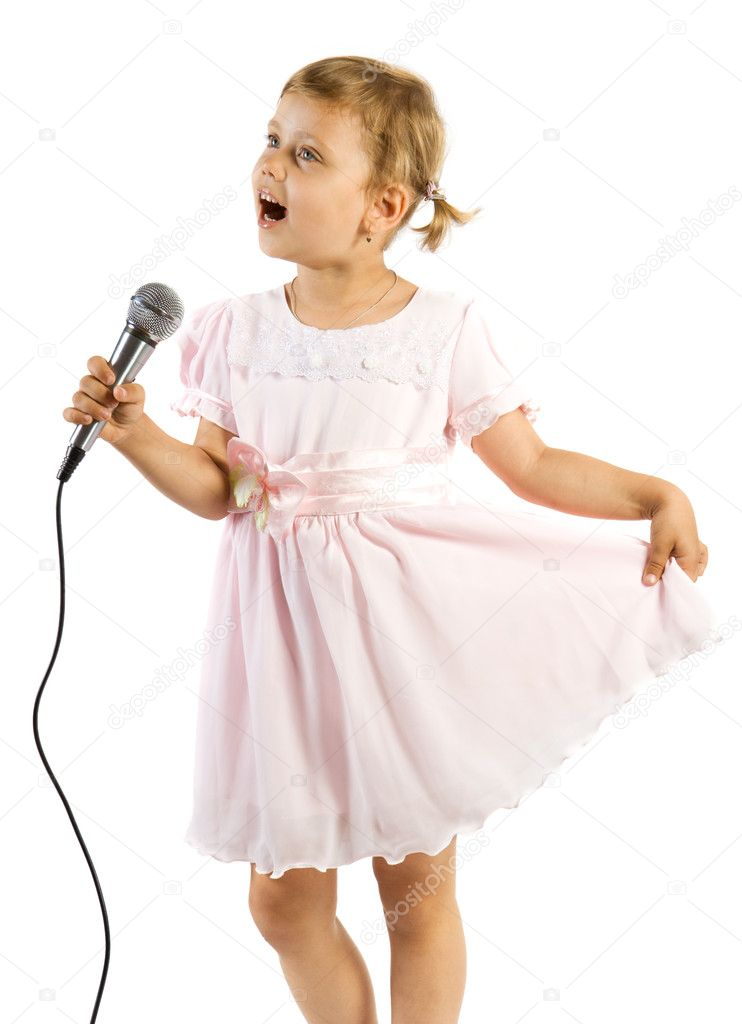 Little girl singing. — Stock Photo © VadimPP #2388938