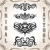 Tribal tattoo pack, vector — Stock Vector