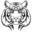 Tiger, tribal tattoo — Stock Vector #36786435