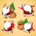 Santa in action — Stock Vector