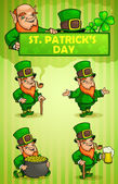 Leprechauns St. Patrick's Day — Stock Vector