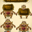 Royalty-Free Stock Vector Image: Red vintage robot devices