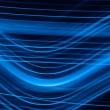 Abstract blue lights background — Stock Photo