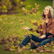 Girl in autumn park — Stock Photo #13734068