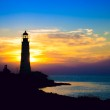 Lighthouse on sunset — Stock Photo #14473029