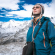 Trekking in Himalaya mountains — Stock Photo