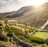 Panoramic mountain landscape — Stock Photo