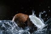 Pęknięty kokosowe — Zdjęcie stockowe