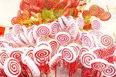 Dulces blanco y rojo — Foto de Stock