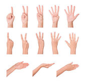 Hands, fingers and numbers — Stock Photo