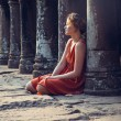 Girl posing in sunset at Angkor Wat — Stock Photo #48539403