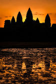 Silhouette of Angkor Wat — Stock Photo