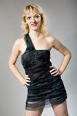 Mujer en vestido elegante — Foto de Stock
