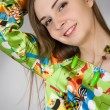 Young woman in a smart dress — Stockfoto