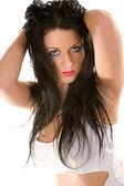 Beautiful brunette — Foto de Stock