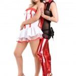 Girls dressed as nurses — Stock Photo #20589279