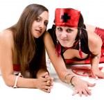 Girls dressed as nurses — Stock Photo #20589291