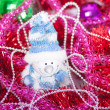 Tinsel Christmas ball — Stock Photo