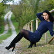 Beautiful young girl outdoors - Stock fotografie