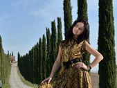 Esmer kız portresi — Stok fotoğraf