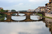 The Ponte Santa Trìnita bridge — Stock Photo