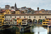 The Ponte Vecchio bridge — Stock Photo