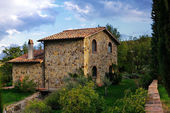 Toscaanse huis — Stockfoto