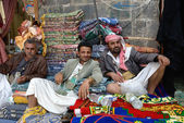 Street market in Yemen — Stock Photo