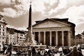 Ancient Pantheon in Rome — Stock Photo