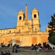 Spanish steps, Rome - Stock Photo