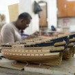 Model ship factory - Stock Photo