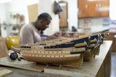 Model ship factory — Stock Photo