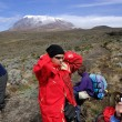 Stock Photo: Kilimanjaro summit