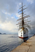 Luxury Sailfish Sea Cloud in Navarino bay, Greece — Stock Photo