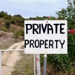 Private Property — 图库照片