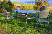 Picnic table outdoor — Stock Photo