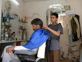 Barbershop, Yemen — Stock Photo